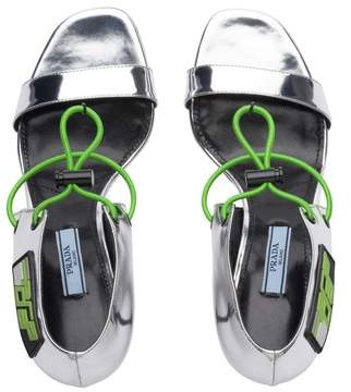 | Leather Sandals With Elasticized Cords | 11 us