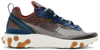 Nike Grey and Blue React Element 87 Sneakers