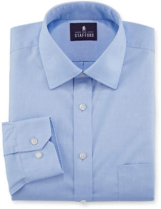 STAFFORD Stafford Executive Long Sleeve Non-Iron Cotton Pinpoint Oxford Dress Shirt
