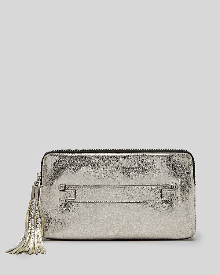 Milly Clutch - Rivington Metallic Fringe Zip