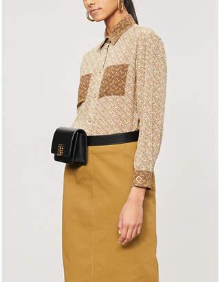 Burberry Monogram-print silk shirt