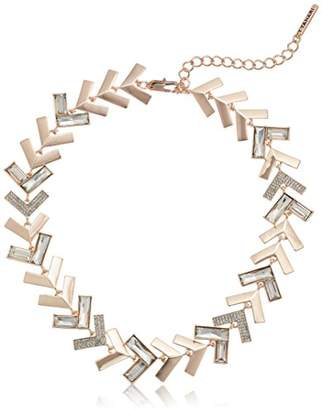 T Tahari Chevron Chic Cry Collar Necklace