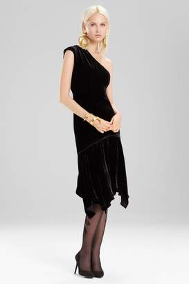 Josie Natori Silk Velvet Dress