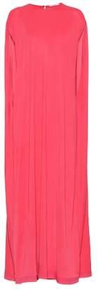 Agnona Sleeveless silk-blend cape dress