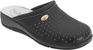 Malo San Womens/Ladies Coated Leather Clogs