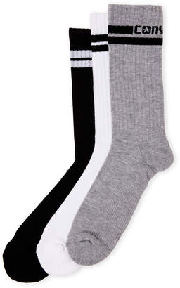Converse 3-Pack Half Cushioned Crew Socks