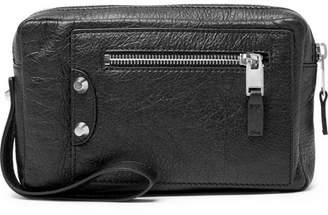 Balenciaga Small Creased-Leather Pouch