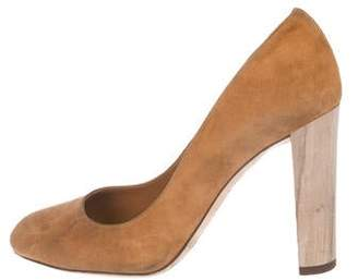 Jimmy Choo Suede Round-Toe Pumps