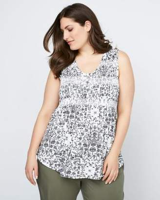 Penningtons Printed Knit Camisole with Buttons - In Every Story