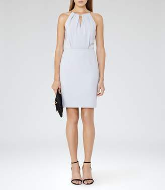 Reiss Odessa Chain Neck Detail Dress