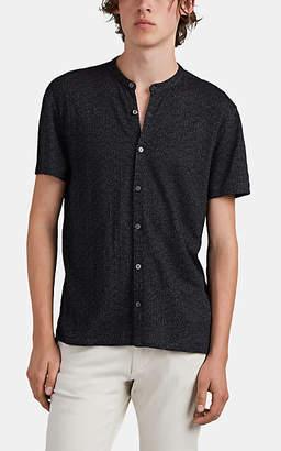 John Varvatos Men's Polka Dot Pima-Cotton Shirt - Black
