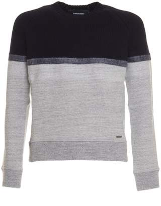 DSQUARED2 Sweater In Blue And Grey