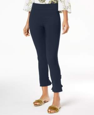 INC International Concepts Inc Ruffled-Hem Ankle Skinny Pants, Created for Macy's
