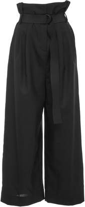 Tibi Cropped Pleated Paperbag Pant