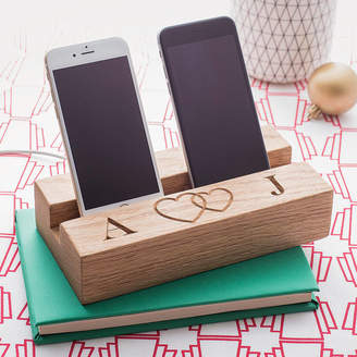 The Oak & Rope Company Romantic Double Phone Stand