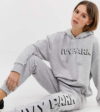 Ivy Park logo joggers in grey