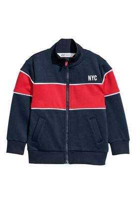 H&M Sports Jacket - Dark blue/color-block - Kids