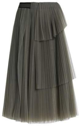 Brunello Cucinelli Layered Pleated Tulle Skirt