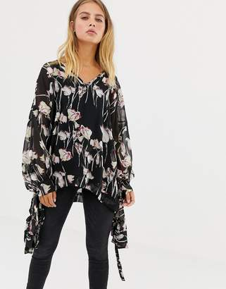 Religion Smock Top In Woodland Floral