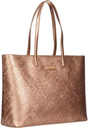 Moschino Embossed Tote Bag