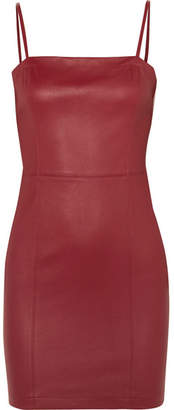 Alexander Wang Leather Mini Dress - Claret