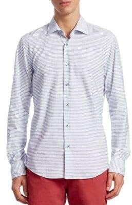 Saks Fifth Avenue COLLECTION Nautical Stripe Button-Down