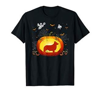 Corgi Pumpkin Halloween Shirts Gift For Dog Lovers T-Shirt