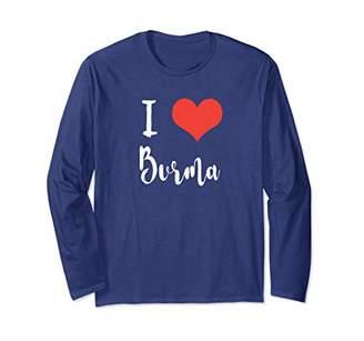 I Love Burma T Shirt