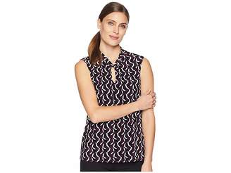 Tommy Hilfiger Printed Knot Keyhole Knit Women's Clothing