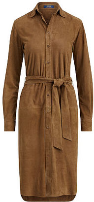 Polo Ralph Lauren Suede Shirtdress $998 thestylecure.com