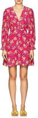 Saloni Women's Eve Floral Silk Minidress - Pink