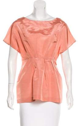 Marni Silk-Blend Cap Sleeve Top