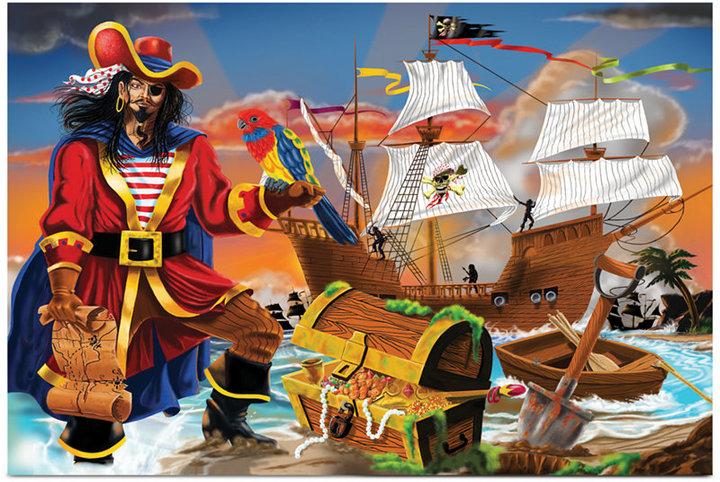 Melissa & Doug Kids Toy, Pirate's Bounty 100-Piece Floor Puzzle