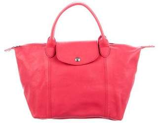 Longchamp Leather LePliage Satchel