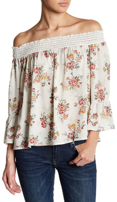 En Creme Embroidered Off-the-Shoulder Blouse $34 thestylecure.com