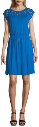 A.N.A Short Sleeve Blouson Dress