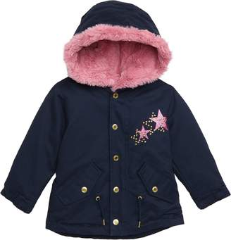 Little Marc Jacobs Hooded Parka with Glitter