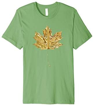 Leaf T-Shirt Gold Autumn Fall Clothes for Women