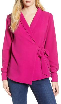 Bobeau Side Tie Wrap Top (Regular & Petite)