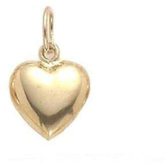 FindingKing 14K Gold HEART PUFFED ,SM Jewelry
