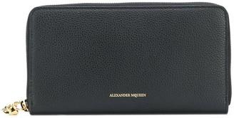 Alexander McQueen zip around continental wallet