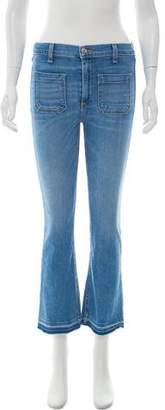 Veronica Beard Mid- Rise Straight- Leg Jeans