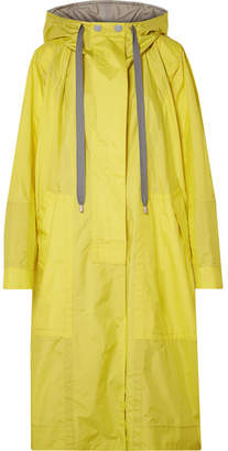 Marc Jacobs Oversized Hooded Shell Windbreaker Jacket - Bright yellow