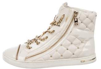 Michael Kors Leather Quilted Sneakers