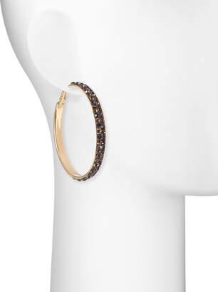 Romeo & Juliet Couture Stone Hoop Earrings