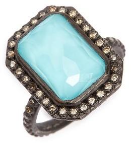 ArmentaWomen's Armenta Old World Midnight Turquoise & Diamond Ring