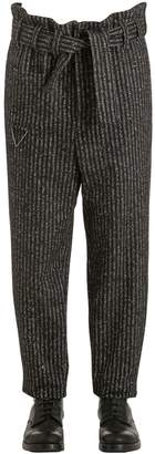 Damir Doma 18cm Oversize Striped Wool Blend Pants