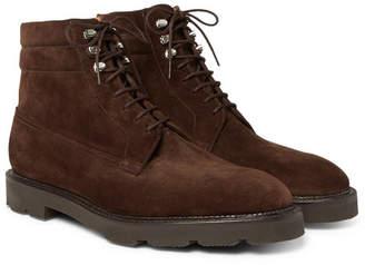 John Lobb Alder Suede Derby Boots - Men - Dark brown