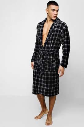 a8ff6993520a at boohoo · boohoo Check Fleece Robe