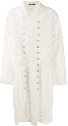 ANAÏS JOURDEN mesh style trench coat